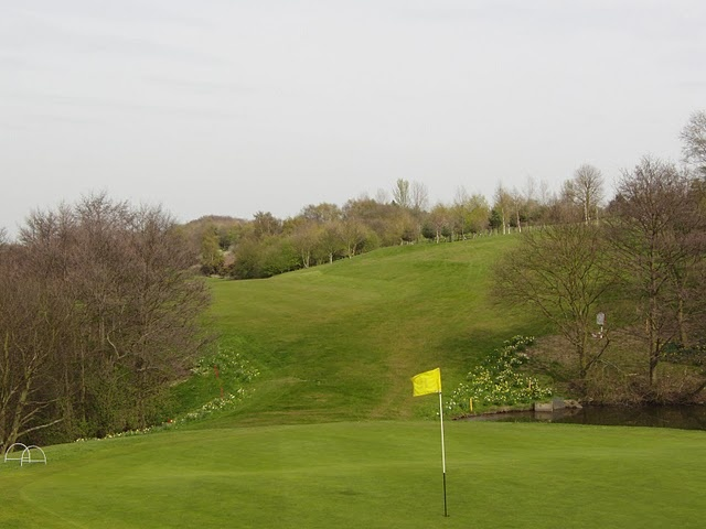 View from the 18th back down the fairway and 'that gap' you have to navigate