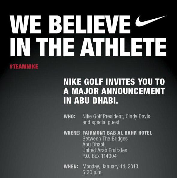 Nike invitation