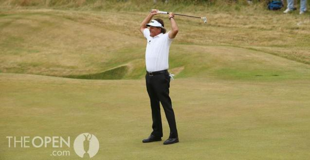Mickleson wins the Open at Muirfield