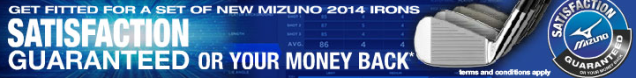 Mizuno Satisfaction Gaurantee
