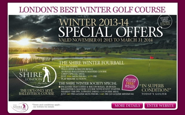 The Shire Londondon Winter Offers