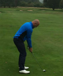Alan Shearer golfing at Kedleston Park