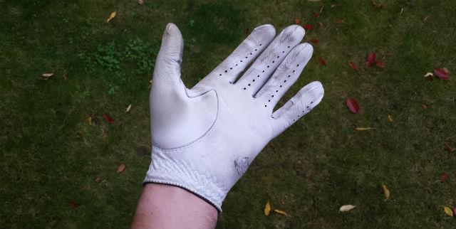 Used golf glove